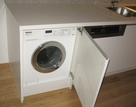Tvättmaskin i kök