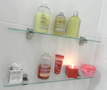 hylla badrum utan att borra